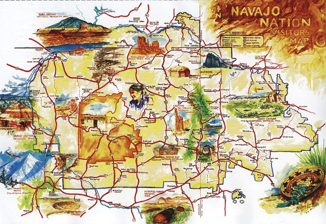 Our Trip To The SouthWest USA Indian Country - Southwest usa highway map